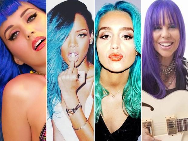 Katy Perry, Rihanna, Amy Sheppard e Baby do Brasil (Foto: Divulgação / Reprodução Intagram e Mariana Sciorilli/ Laboratório da Notícia)
