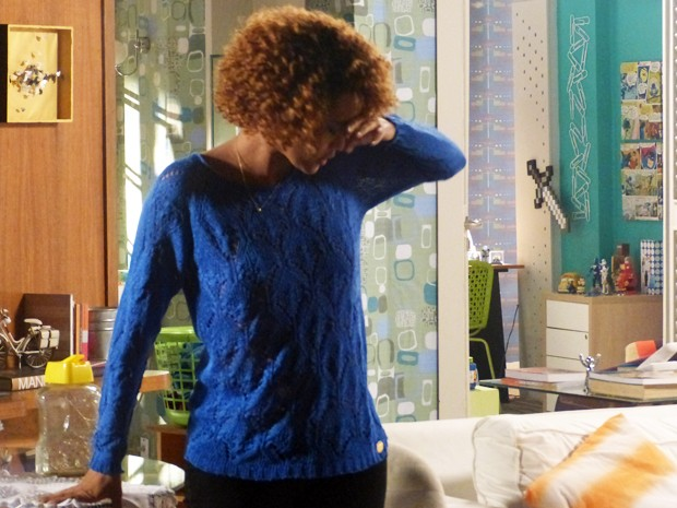 Verônica, em outra, ocasião também passa mal  (Foto: Geração Brasil/ TV Globo)