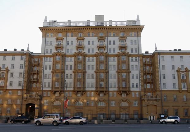 Embaixada dos Estados Unidos em Moscou (Foto: Iliya Pitalev/Sputnik)