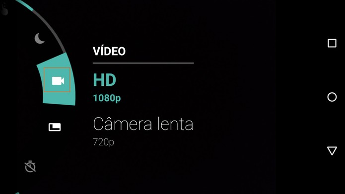 Modo de gravação de vídeos no Moto G 3 (Foto: Reprodução/Barbara Mannara)