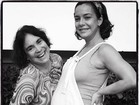 Regina Duarte posa com Regiane Alves, que está no final da gravidez