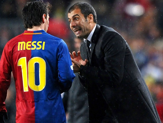Messi e Guardiola, Barcelona (Foto: Getty Images)