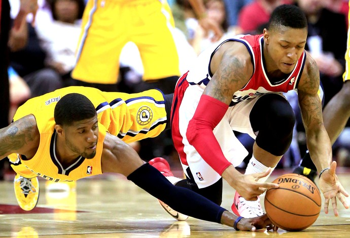 Paul George NBA indiana pacers x washington wizards (Foto: Getty Images)