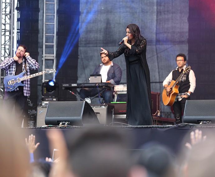 Público lotou o show de Damares (Foto: Carol Caminha/Gshow)