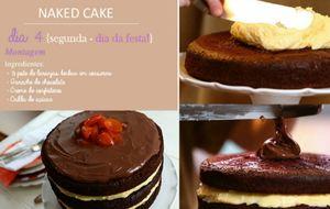 Diário do Naked Cake: aprenda a fazer o bolo de festa em etapas