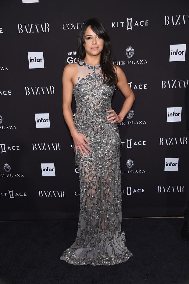 Michelle Rodriguez em festa em Nova York, nos Estados Unidos (Foto: Jamie McCarthy/ Getty Images/ AFP)