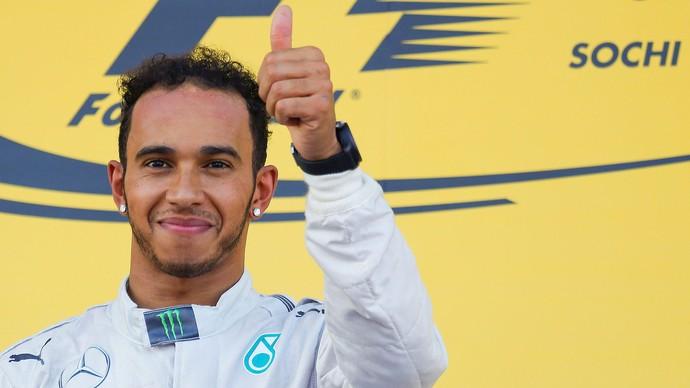 Hamilton, F1 GP da Russia em Sochi (Foto: Reuters)