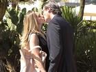 Letícia Spiller e Dalton Vigh gravam cena de beijo em Salve Jorge