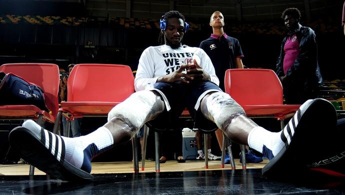 basquete EUA Kenneth Faried treino mundial (Foto: Cassio Barco)