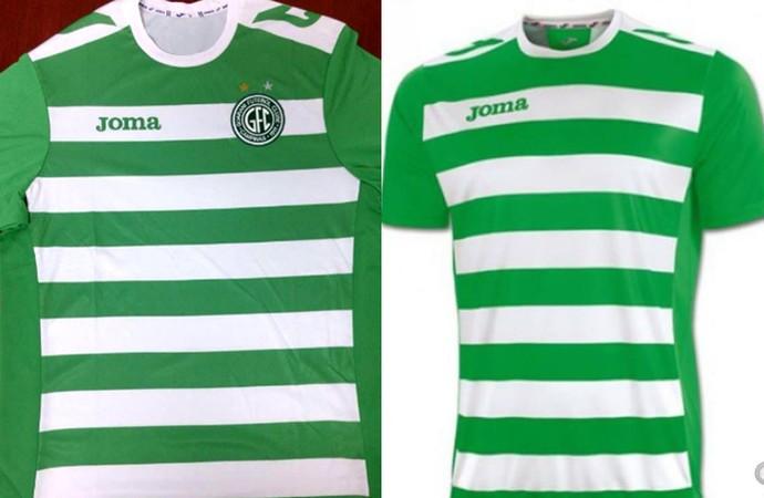 Nova camisa do Guarani usa modelo pronto da Joma  veja fotos e compare 3f0bf04fec63b