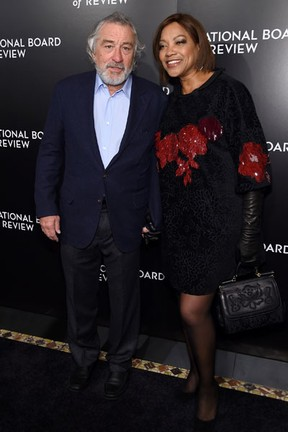 Robert De Niro e Grace Hightower em evento em Nova York, nos Estados Unidos (Foto: Jamie McCarthy/ Getty Images/ AFP)