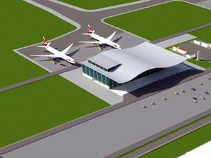 Além de aeroporto, porto seco e galpões serão construídos (Foto: Reprodução EPTV)