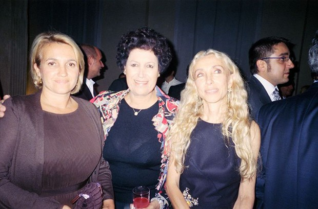 Franca with Silvia and Carla Fendi (Foto: Suzy Menkes)