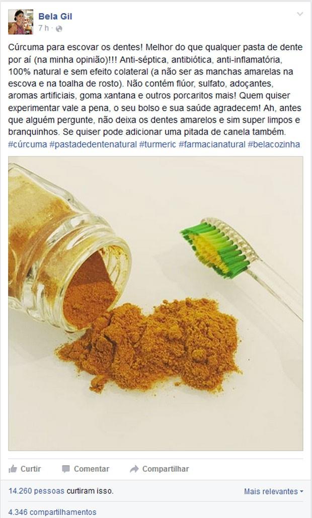 Bem Estar Escovar Os Dentes Com Curcuma Nao Tem Base Cientifica