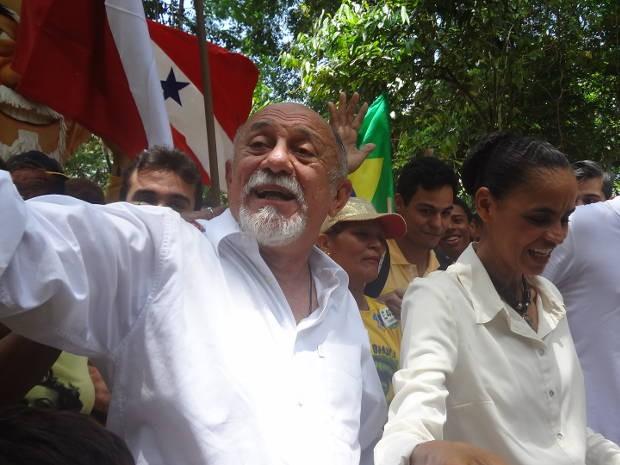 Marina Silva declarou apoio a Simão Jatene (Foto: Luana Laboissiere / G1)