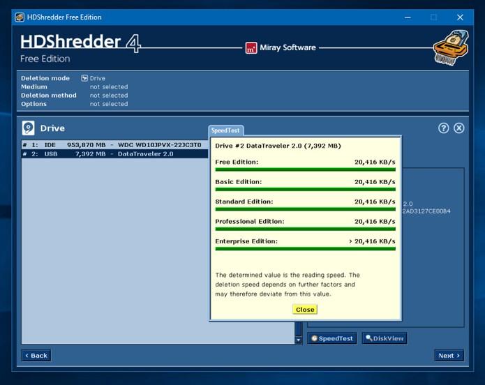 O HDShredder tem um visual ultrapassado, mas é muito competente em sua proposta (Foto: Reprodução)