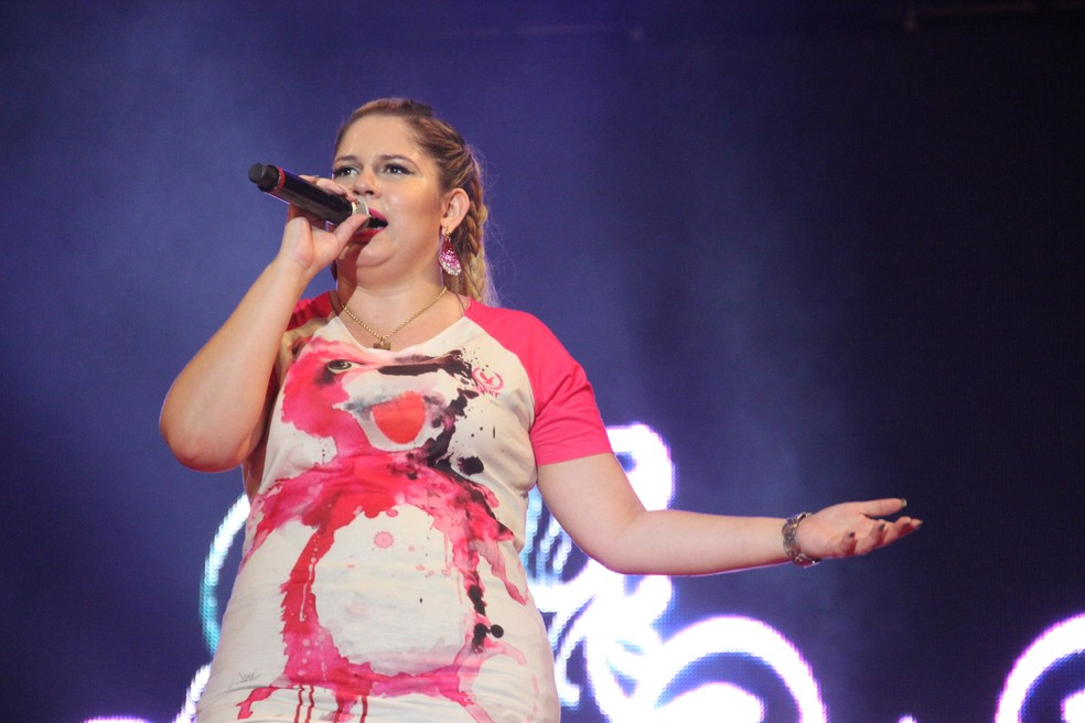 Aos 22 anos, a cantora levanta multidões por onde passa (Foto: Indiara Bessa, G1 AM)