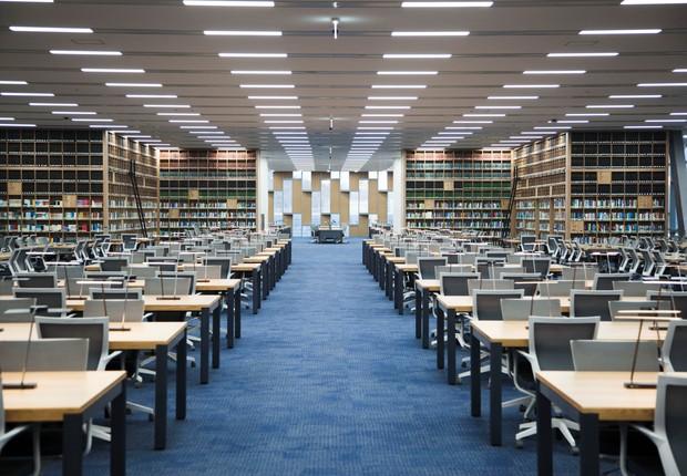 Biblioteca da Universidade Nacional de Seul, na Coreia do Sul (Foto: Divulgação)