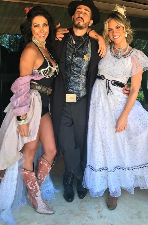 Bella Falconi, Carlinhos Maia e Giovanna Ewbank (Foto: Reprodução/Instagram)