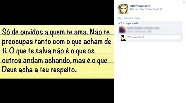 Andressa Suita, namorada do Gusttavo Lima (Foto: Facebook/Reprodução)
