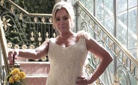 Pilar aposta em vestido clean para a união com Maciel