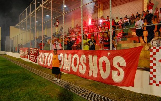 Torcida do Auto Esporte no Estádio da Graça (Foto: Lucas Barros / Globoesporte.com/pb)