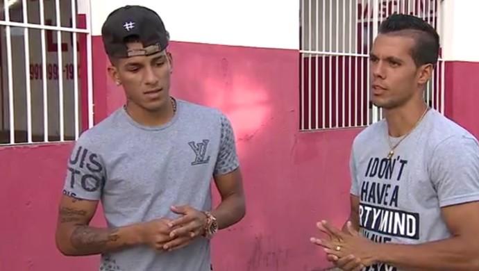 Calyson e Hiago pretendem renovar com o Sergipe (Foto: Reprodução/TV Sergipe)