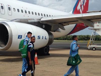 Palmeiras desembarque (Foto: Rodrigo Faber)