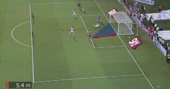Santiago Silva; gol perdido; Ponte Preta x Lanús (Foto: Reprodução SporTV)