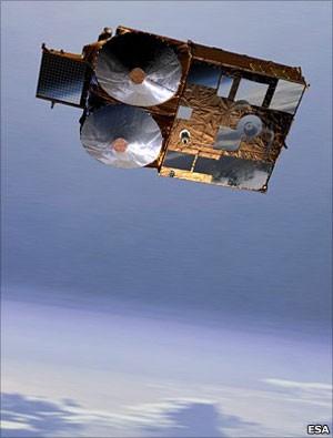 O satélite CryoSat (Foto: BBC)