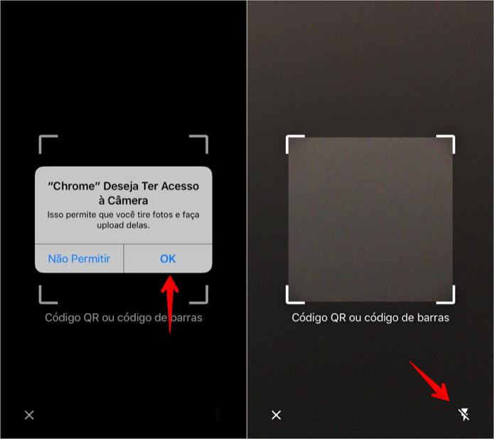 Permita que o app use a câmera do celular (Foto: Reprodução/Helito Bijora)
