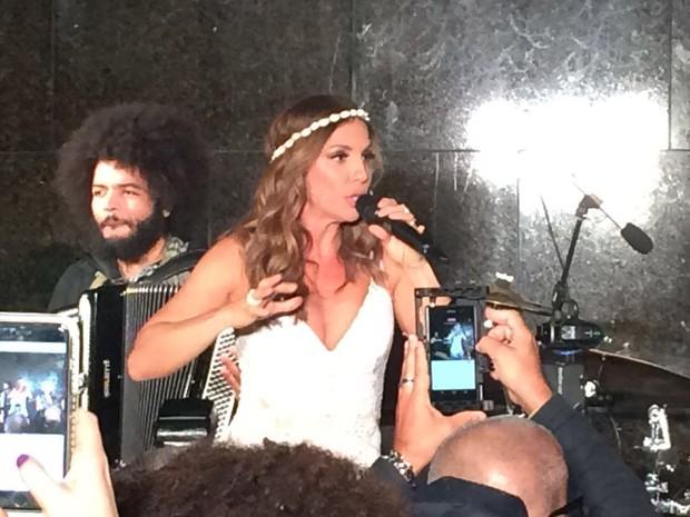 Ivete Sangalo durante show (Foto: EGO)
