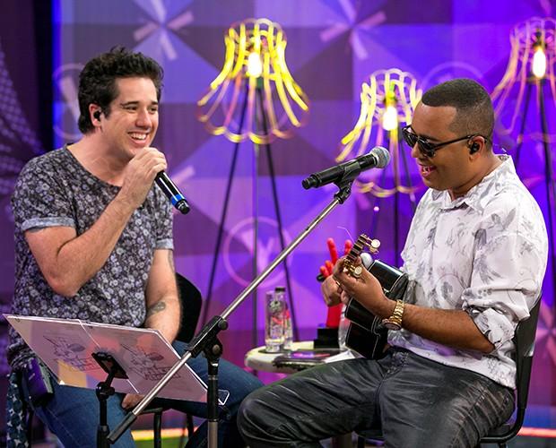 Rogério Flausino e Dudu Nobre se unem nos ensaios do The Voice Brasil (Foto: Isabella Pinheiro/Gshow)