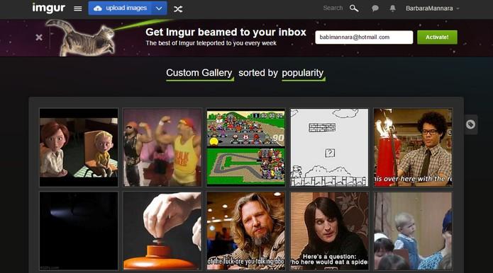 Imgur permite encontrar GIFs com categorias (Foto: Reprodução/Barbara Mannara)