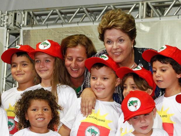 Dilma durante evento em Arapongas, no Paraná (Foto: Roberto Stuckert FIlho / Agência O Globo)