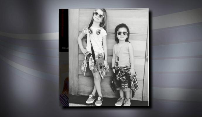 Giovanna e Dioguinho sempre mostram os looks nas redes sociais  (Foto: reprodução EPTV)