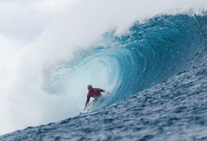 Kelly Slater primeira fase Teahupoo surfe (Foto: Divulgação/WSL)