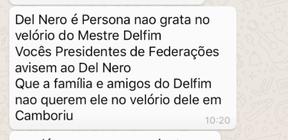 BLOG: Assessores de Delfim Peixoto tentam evitar presença de Del Nero em funeral