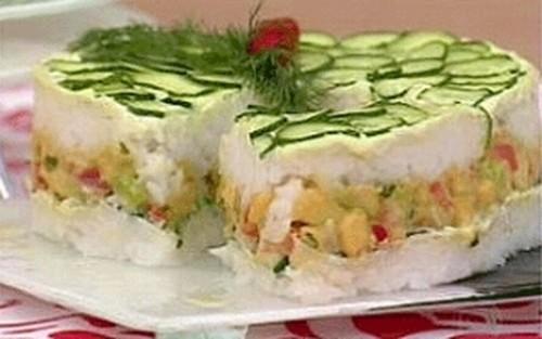 Torta de Sushi Com Guacamole