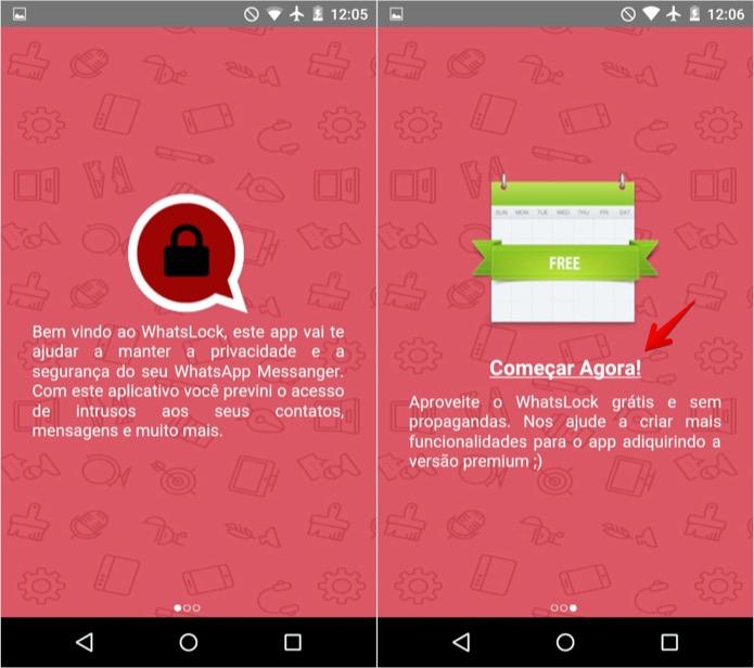 Configuração inicial do aplicativo (Foto: Reprodução/Helito Bijora)