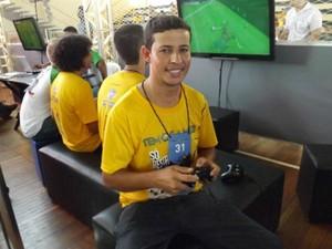 Marcos Malaquias foi o primeiro player a garantir a vaga na final do Jogo (Foto: Tatiane Santos/G1)