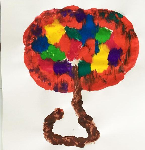A pintura da Árvore da vida (Foto: Reprodução/Instagram)