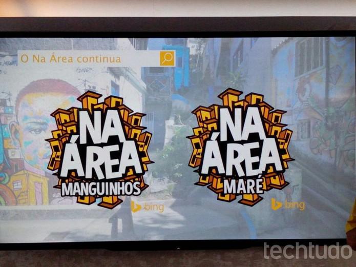 Projeto Bing na Área, em evento no Morro do Vidigal (Foto: Carol Danelli/TechTudo)