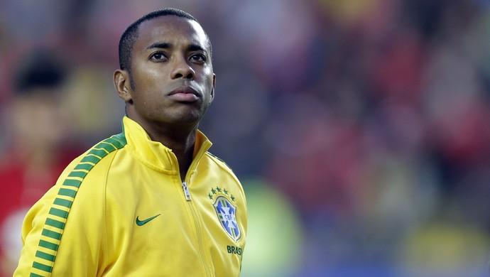 Robinho Brasil x Paraguai (Foto: AP)