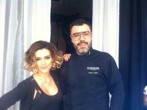 Cleo Pires com o chef Renato Caleffi (Foto: Divulgação)