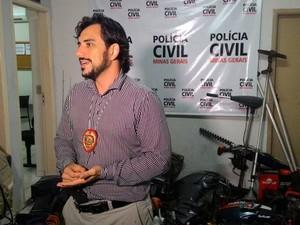 Delegado de Uberlândia Daniel Azevedo (Foto: Lucas Papel/G1)