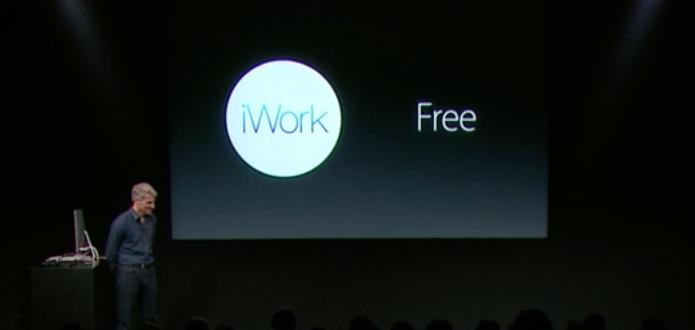 iWork chega gratuito junto com o novo OS X Yosemite (Foto: Reprodução/Apple)