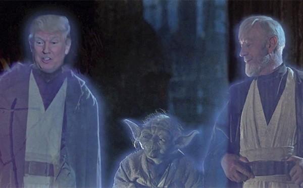 Donald Trump no lugar de Anakin Skywalker (Foto: Reprodução)