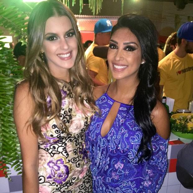 Ex-BBBs Angela e Amanda em festa em São Paulo (Foto: Instagram/ Reprodução)