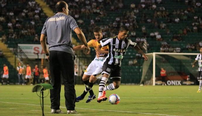 Figueirense x Criciúma Vinícius Eutrópio Ricardo Bueno (Foto: Luiz Henrique/Figueirense FC)